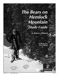 The Bears on Hemlock Mountain - Progeny Press