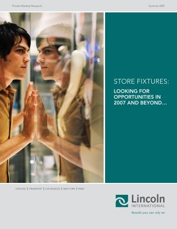 Store fixtureS: - Lincoln International