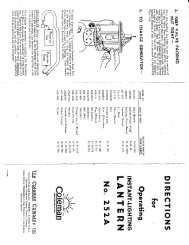 1928 Coleman 220 Slant Generator Lantern Instructions