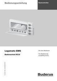 Bedienungsanleitung Logamatic EMS - Buderus