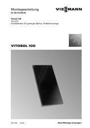 VITOSOL 100 Montageanleitung