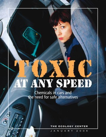 Chemicals in cars and the need for safe alternatives