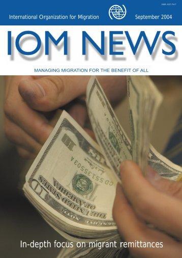 IOM News September 2004 - IOM Publications - International ...