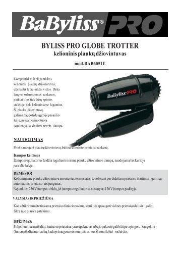 BAB6051E Kelioninis plauku dziovintuvas.pdf - UAB Krinona ...