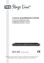 img stage line MCL-204 Kompressor-Limiter 2 Kanäle