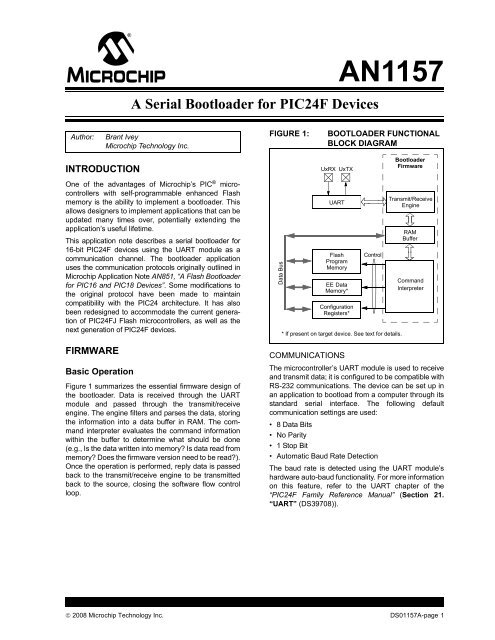 A Serial Bootloader for PIC24F Devices - Microchip