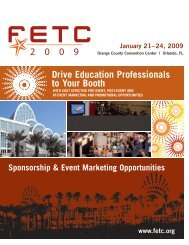 Drive Education Professionals to Your Booth January 21?24, 2009