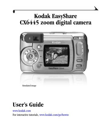 KODAK EASYSHARE CX6445 MANUAL PDF