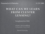 WHAT CAN WE LEARN FROM CLUSTER LENSING?