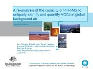 Studies on the use of PTR-MS to identify and quantify VOCs ... - WMO