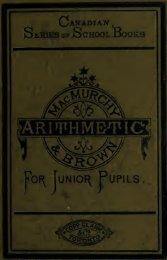 Arithmetic for junior pupils