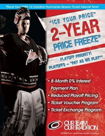Ice Your Price for Next Season! - Carolina Hurricanes