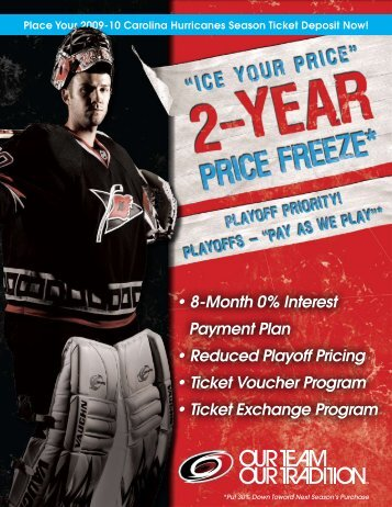 Ice Your Price for Next Season! - Carolina Hurricanes