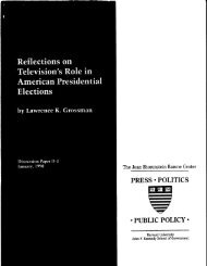 Reflections on Television's Role in American Presidential Elections