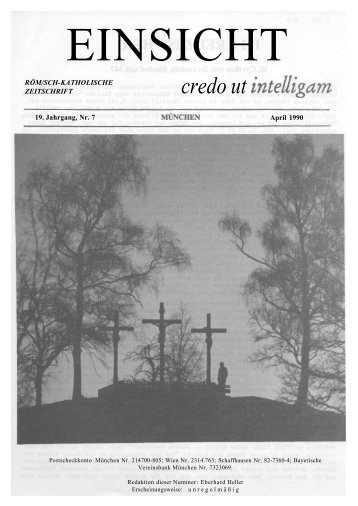 19. Jahrgang, Heft 7 (April 1990) - CatholicaPedia