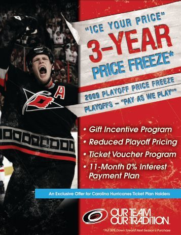 Playoff Pricing Brochure - Carolina Hurricanes