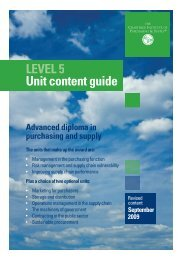 Unit content guide - The Chartered Institute of Purchasing and Supply
