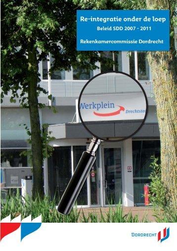 Re-integratie onder de loep - Gemeente Dordrecht