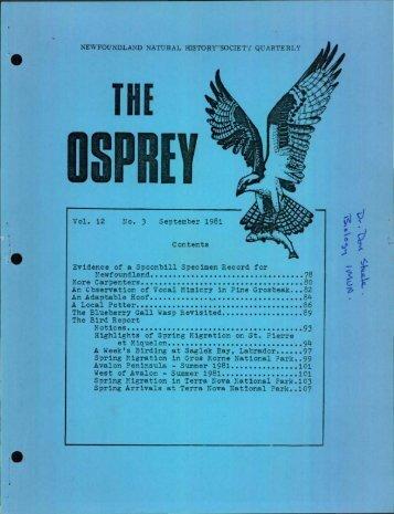 OSPREY - Memorial University of Newfoundland