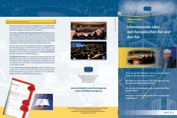 Informationen über den Europäischen Rat und den Rat - Rat der ...
