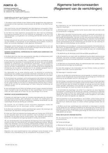 Reglement van de verrichtingen - BNP Paribas Fortis