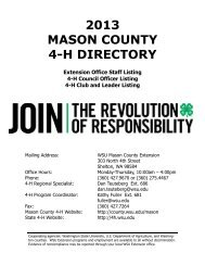 2013 mason county 4-h directory - WSU Extension Counties ...