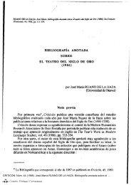 Bibliografía anotada sobre el teatro del Siglo de Oro - Centro Virtual ...