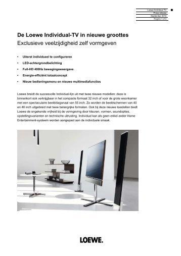 De Loewe Individual-TV in nieuwe groottes Exclusieve ...