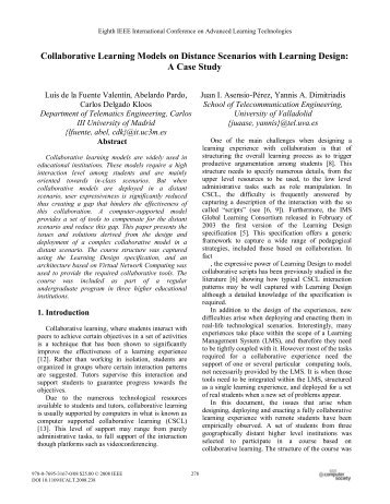 Collaborative Learning Models on Distance ... - ResearchGate
