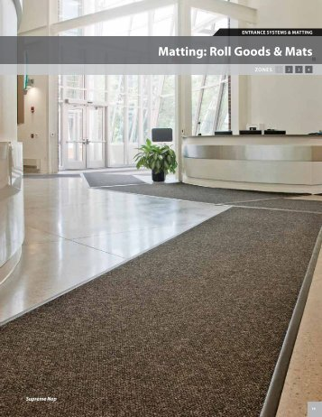 Matting: Roll Goods & Mats - Mats Inc.