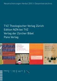 Neuerscheinungen Herbst 2010 Gesamtverzeichnis - TVZ