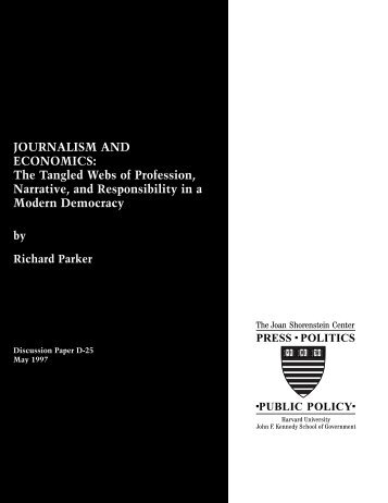 JOURNALISM AND ECONOMICS - Joan Shorenstein Center on the ...