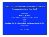 Trends in Telecommunications Development - Silicon Flatirons
