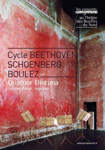 Cycle Beethoven SChoenBerg Boulez