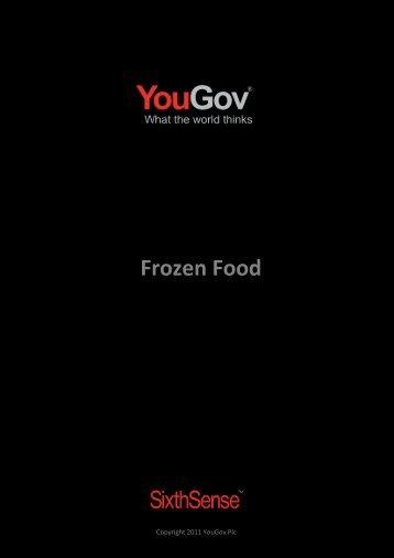 Frozen Food - SixthSense - YouGov