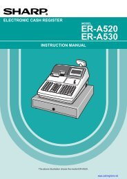 Sharp_ER-A530_Instru.. - Sharp & Casio Cash Registers
