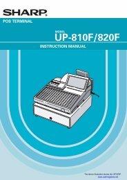 Sharp_UP-820F_Instru.. - Sharp & Casio Cash Registers
