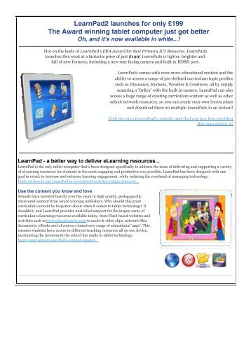 LearnPad2_eshot - Somerset Learning Platform