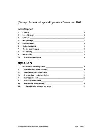 Basisnota drugsbeleid gD 2009 - Bestuurlijke informatie van de ...
