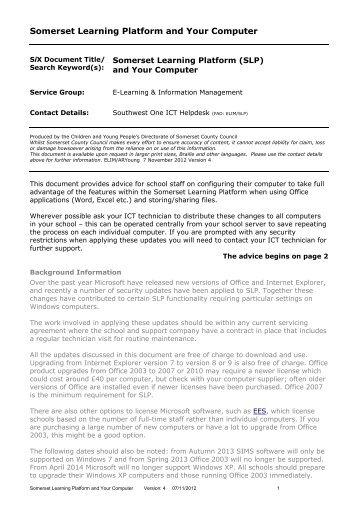 Building Maintenance Indemnity Scheme Somerset Learning