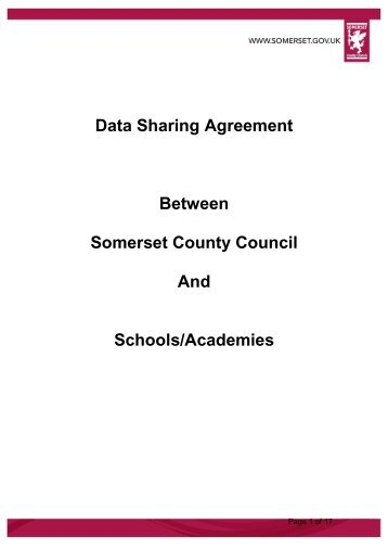 Data Exchange Agreement - Somerset Learning Platform - Somerset ...