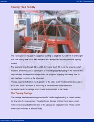 Towing Tank Facility - nptel - Indian Institute of Technology Madras