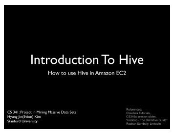 Introduction To Hive - SNAP - Stanford University