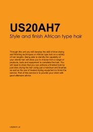 Style and finish African type hair