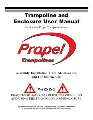 Trampoline and Enclosure User Manual