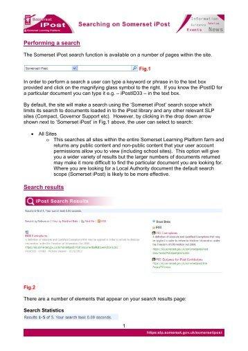 Searching Somerset iPost - Somerset Learning Platform