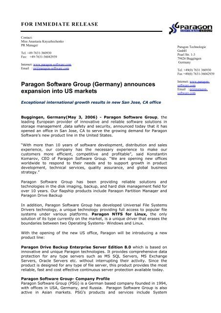 Download - PARAGON Software Group