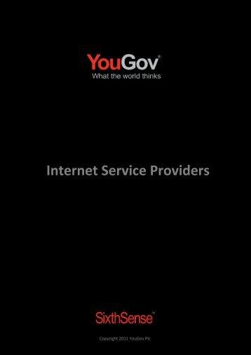 Internet Service Providers - SixthSense - YouGov