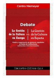 Programa debate Gestión de la cultura en ... - Centro Niemeyer