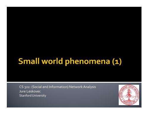 slides - SNAP - Stanford University